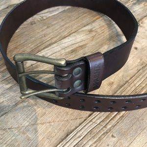 Apache leather chocolate brown belt